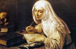 Екатерина Сиенская пишет Книгу