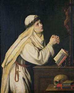 Св. Екатерина Сиенская молится