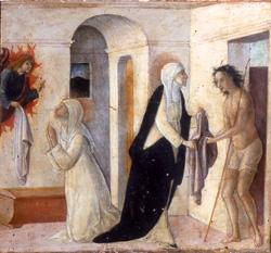 Екатерина Сиенская вручает одежду Христу