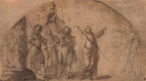 Екатерина Сиенская указывает Папе Григорию XI путь в Рим