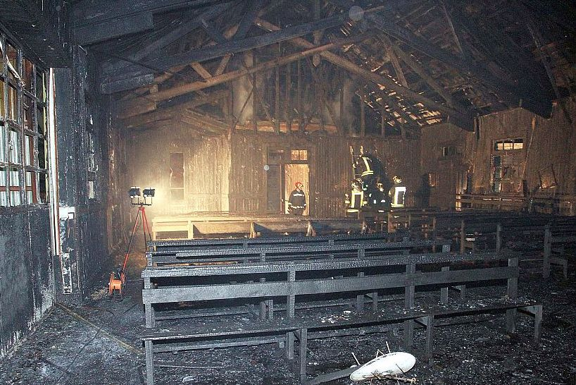 Чили: индейцев-мапуче вновь подозревают в поджоге протестантской церкви