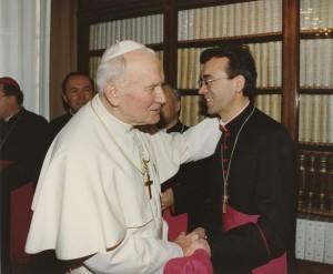 на аудиенции у Папы Иоанна Павла II