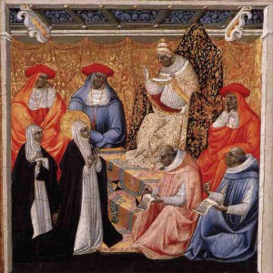 Папа Григорий XI и Екатерина Сиенская