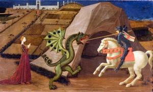 Святой Георгий поражает дракона