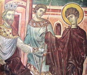 Святой Георгий перед императором Диоклетианом
