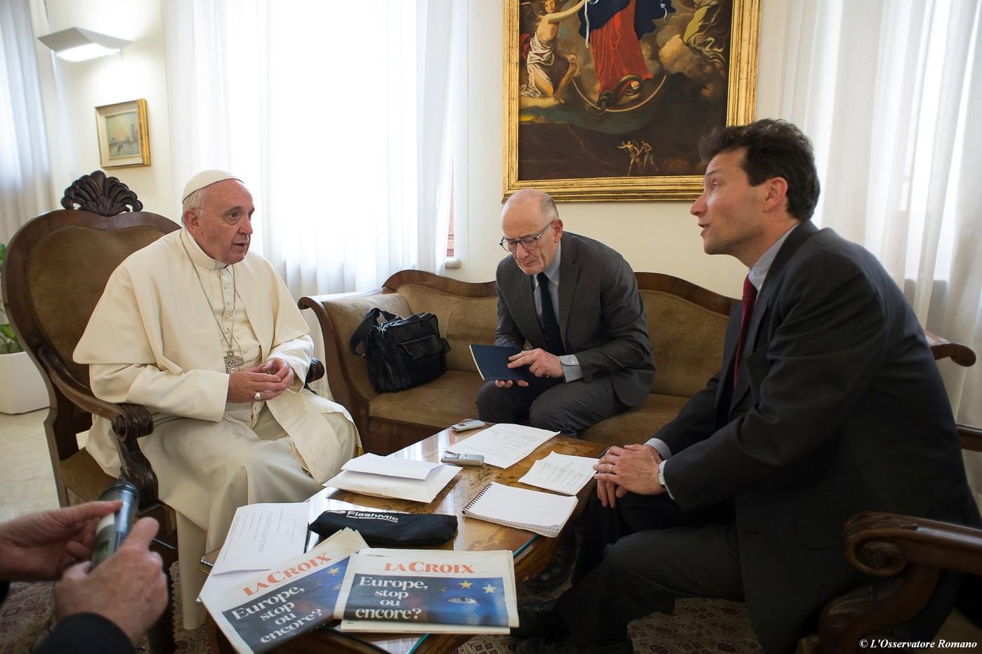 Интервью Папы Франциска католической газете «La Croix»