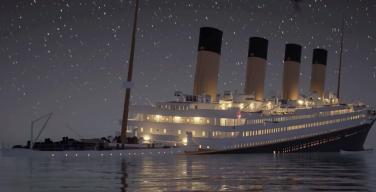 Процесс крушения «Титаника» показали в реальном времени (ВИДЕО)
