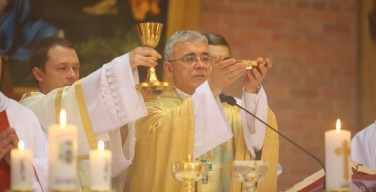 Духовенство и верные поздравили Владыку Иосифа Верта с 25-летием епископской хиротонии