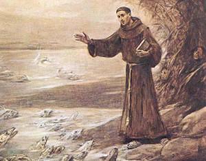 Св. Антоний Падуанский проповедует рыбам
