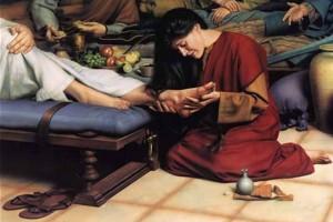 Мария у ног Иисуса
