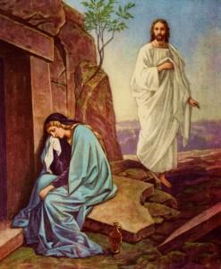 Воскресший Иисус является Марии Магдалине