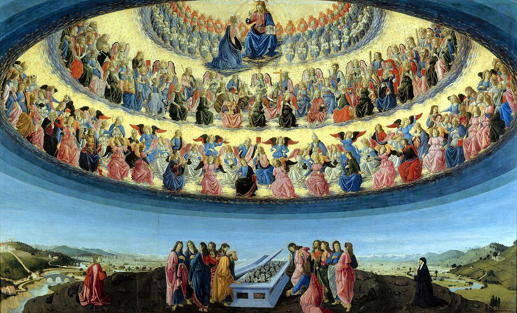 «Вознесение девы Марии», Франческо Боттичини
