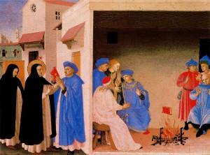 Фра Анжелико. Диспут святого Доминика с еретиками