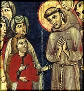 Франциск Ассизский и юная Клара
