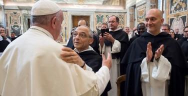 Папа — доминиканцам: проповедуйте милосердие среди людей