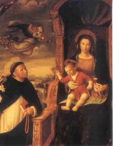 Святой Доминик молится Пресвятой Деве Марии