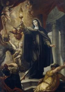 Святая Клара чудесным образом спасает свою обитель