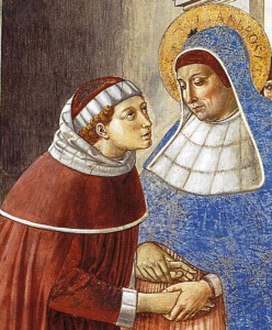 Моника и Августин в Милане