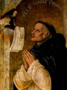 Пресвятая Дева Мария вручает Реджинальду Орлеанскому одеяние Ордена