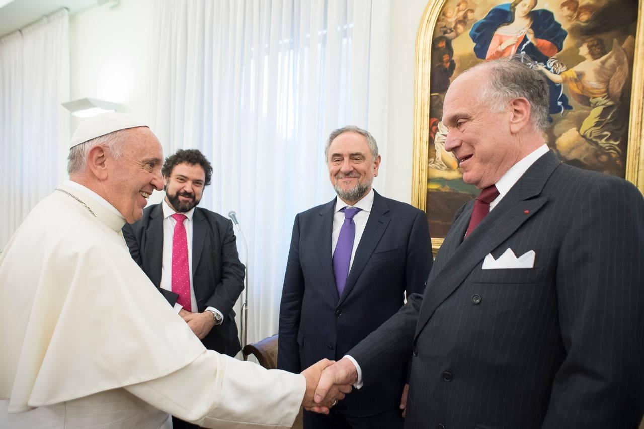 Папа Франциск встретился с представителями Всемирного еврейского конгресса