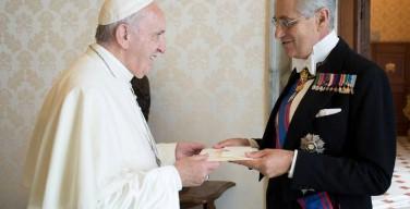 Бывший посол Италии в Российской Федерации представляет Суверенный Мальтийский орден в Ватикане