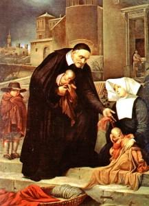 Винсент де Поль с детьми