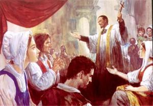 Винсент де Поль проповедует