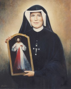 Св. Фаустина Ковальская с образом Иисуса Милосердного
