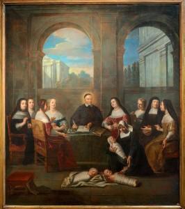 Винсент де Поль в обществе дам-благотворительниц