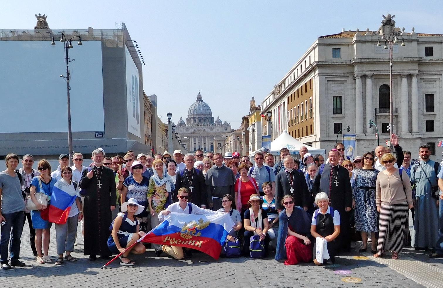 Фоторепортаж из Рима о российском паломничестве в рамках Юбилейного Года Милосердия