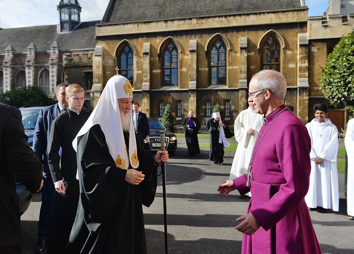 Патриарх Московский встретился с архиепископом Кентерберийским