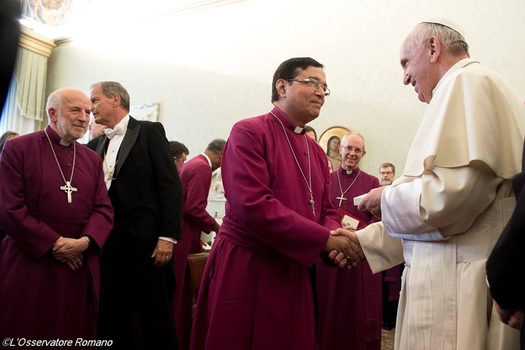 Папа Франциск встретился с предстоятелями англиканских церковных провинций