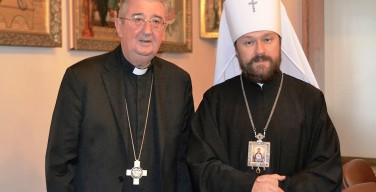Архиепископ Диармуид Мартин и католическое духовенство из Ирландии встретились с митрополитом Иларионом