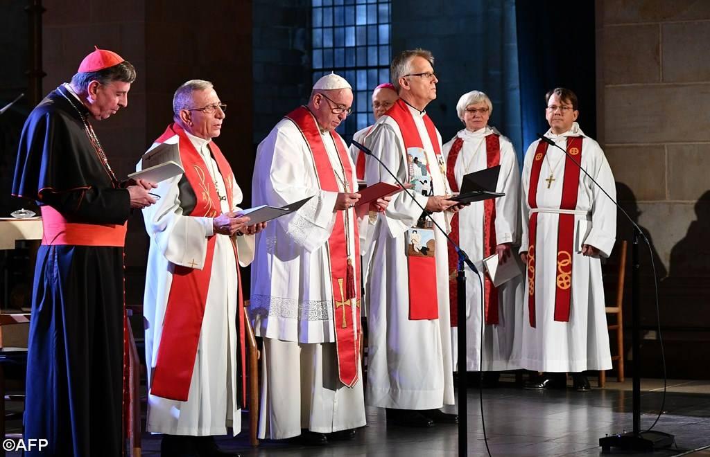 Папа Франциск в лютеранском соборе Лунда: мир ждет совместного свидетельства христиан