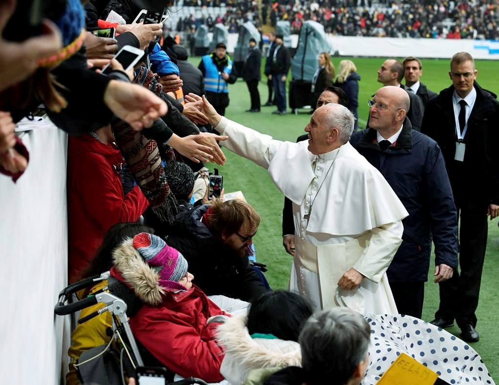 Папа в Мальмё: блаженны святые, ибо они открыли для себя Божью любовь