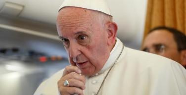Интервью Папы Франциска на борту самолета Мальмё — Рим