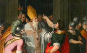 Св. Амвросий и Феодосий
