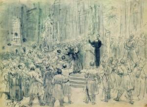 Святой Иосафат Кунцевич проповедует Унию