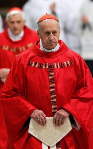 French Cardinal Roger Etchegaray attends