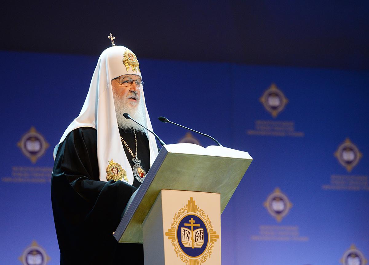 Патриарх Кирилл считает главной причиной Октябрьской революции духовную деградацию народа