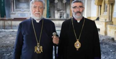 Католикос Арам I провел Рождество на развалинах Алеппо