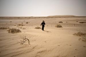 Монах в пустыне