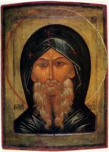 Икона св. Антония XVI столетия