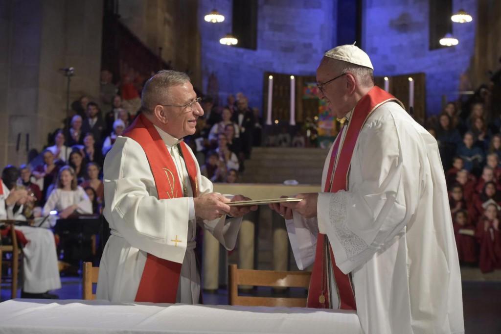 Papa Francesco, Preghiera Ecumenica Comune nella Cattedrale Luterana di Lund