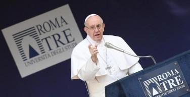 Папа Франциск посетил римский университет «Рома Тре»