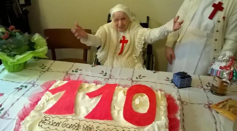 Самая старшая монахиня Италии празднует свой день рождения