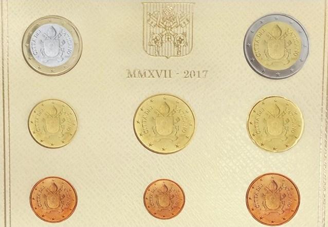 Новые серии ватиканских евро за 2017 год