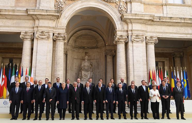Лидеры 27 стран ЕС подписали Римскую декларацию по будущему союза без Великобритании