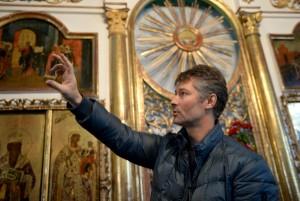 Евгений Ройзман посетил Свято-Никольский храм в селе Быньги Свердловской области