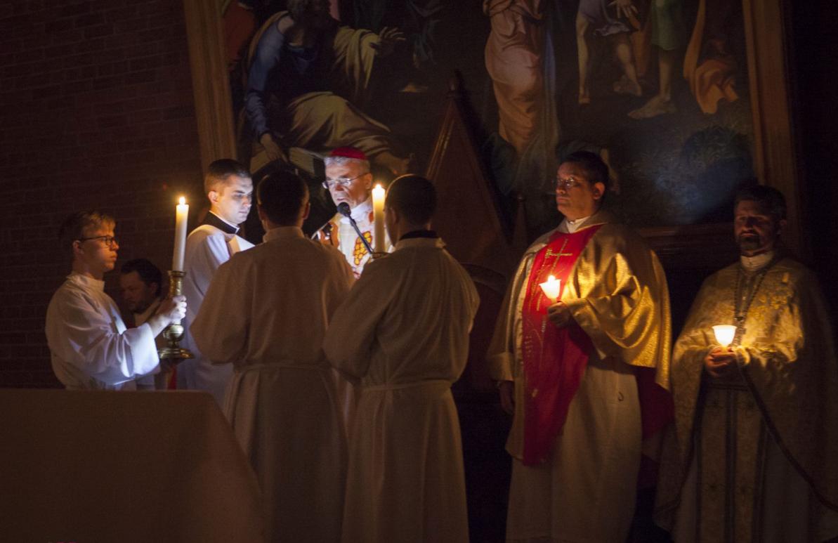 Богослужение Пасхальной ночи в Кафедральном соборе Новосибирска
